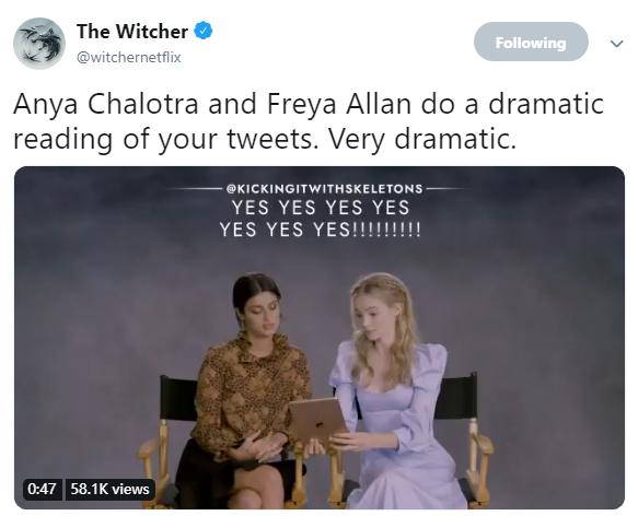 戏剧性十足 《巫师》叶奈法、希里演员阅读网友评论