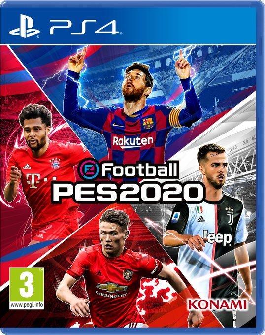 《实况足球2020》封面四星同台 梅球王双手指天引雷电