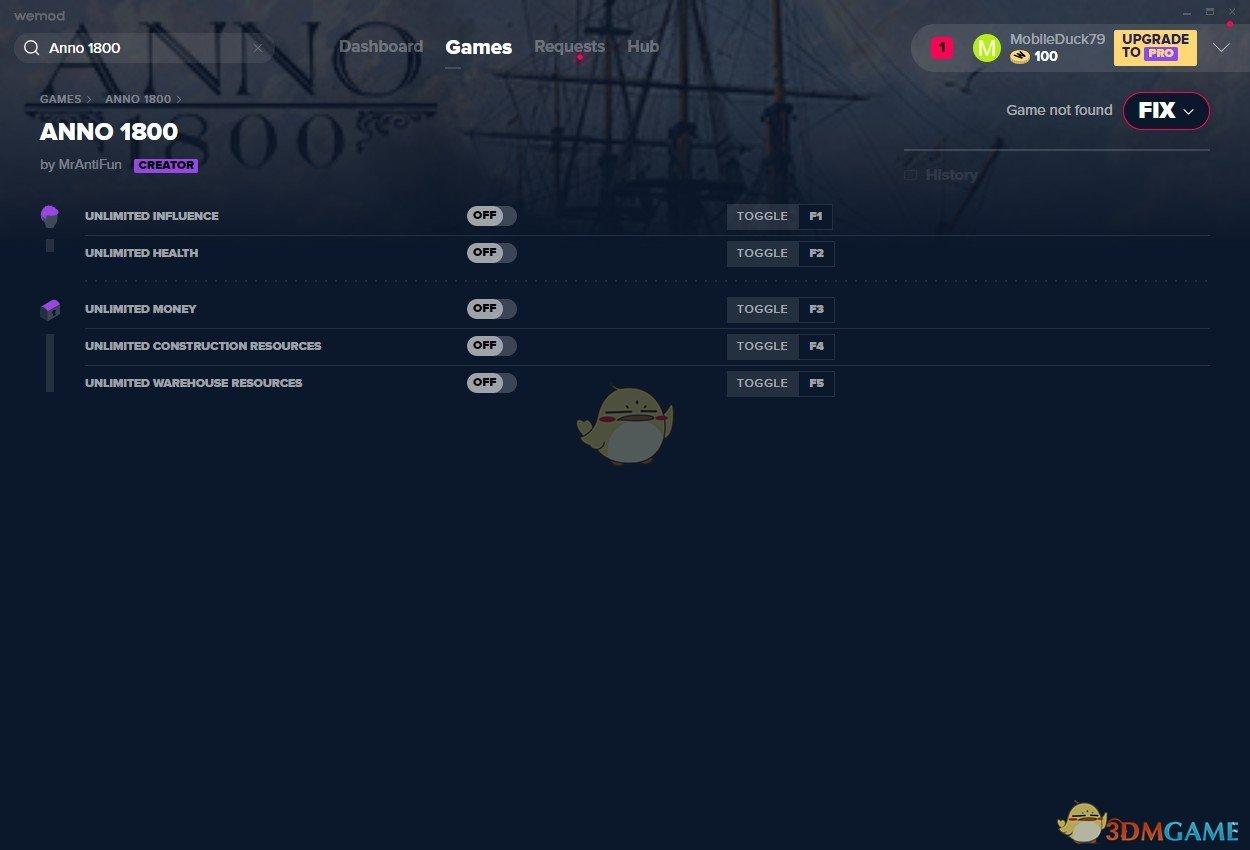 《纪元1800》v2019.09.12五项修改器[MrAntiFun][Steam]