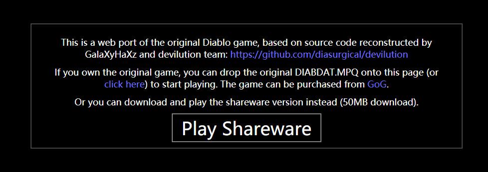 《暗黑1》被移植成网页游戏 你可以在浏览器上玩了