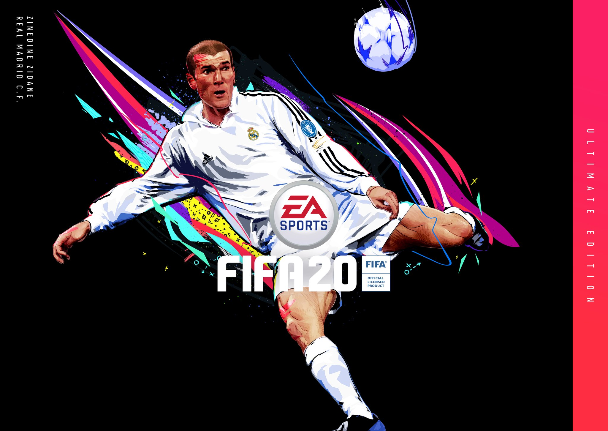 齐祖出征!齐达内登《FIFA20》终极版封面并加入UT模式