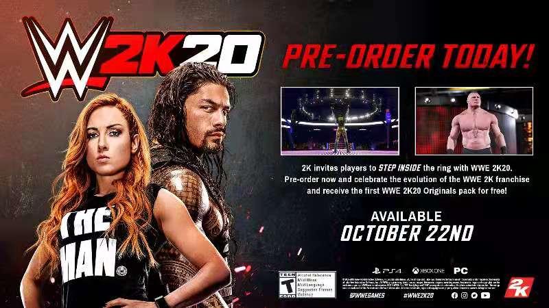 体验新特色 与封面巨星一起踏进《WWE 2K20》擂台