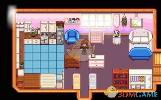 《星露谷物语》粉色系大型家具包MOD