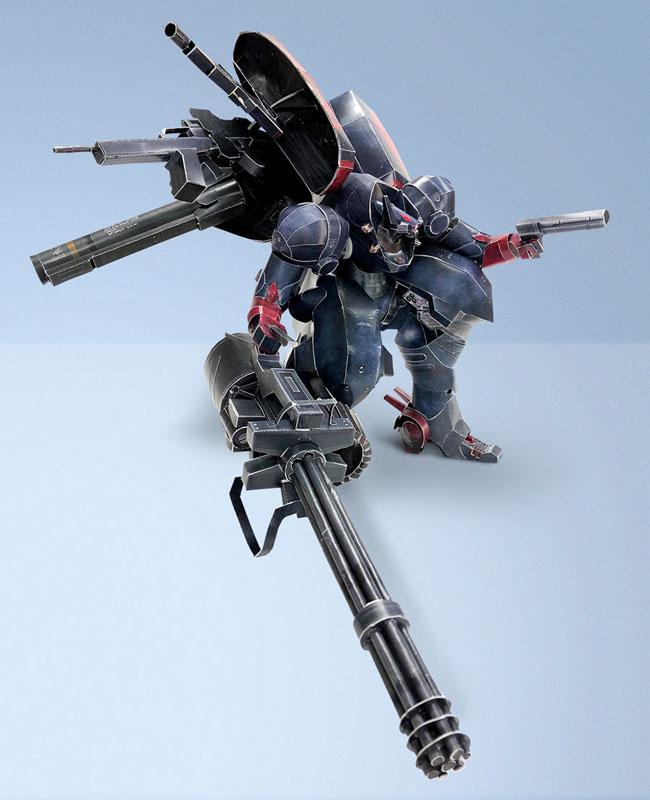 超酷还原需花80小时!《钢铁苍狼:混沌之战XD》主角机甲折纸设计图放出