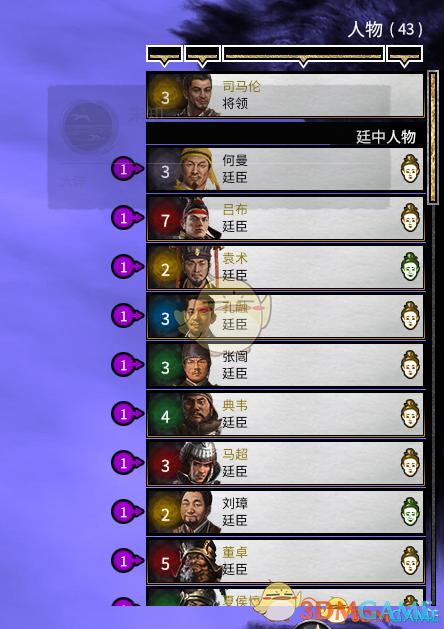 《全面战争:三国》所有立绘三国将领八王时期可招募MOD