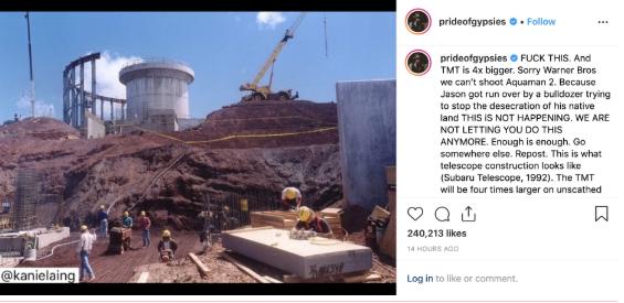 上映日期或有影响!杰森表示忙于夏威夷建设抗议拒拍海王2