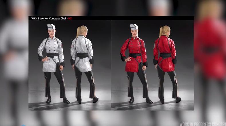 开发商公布《星际公民》角色概念展示 酒保英气逼人