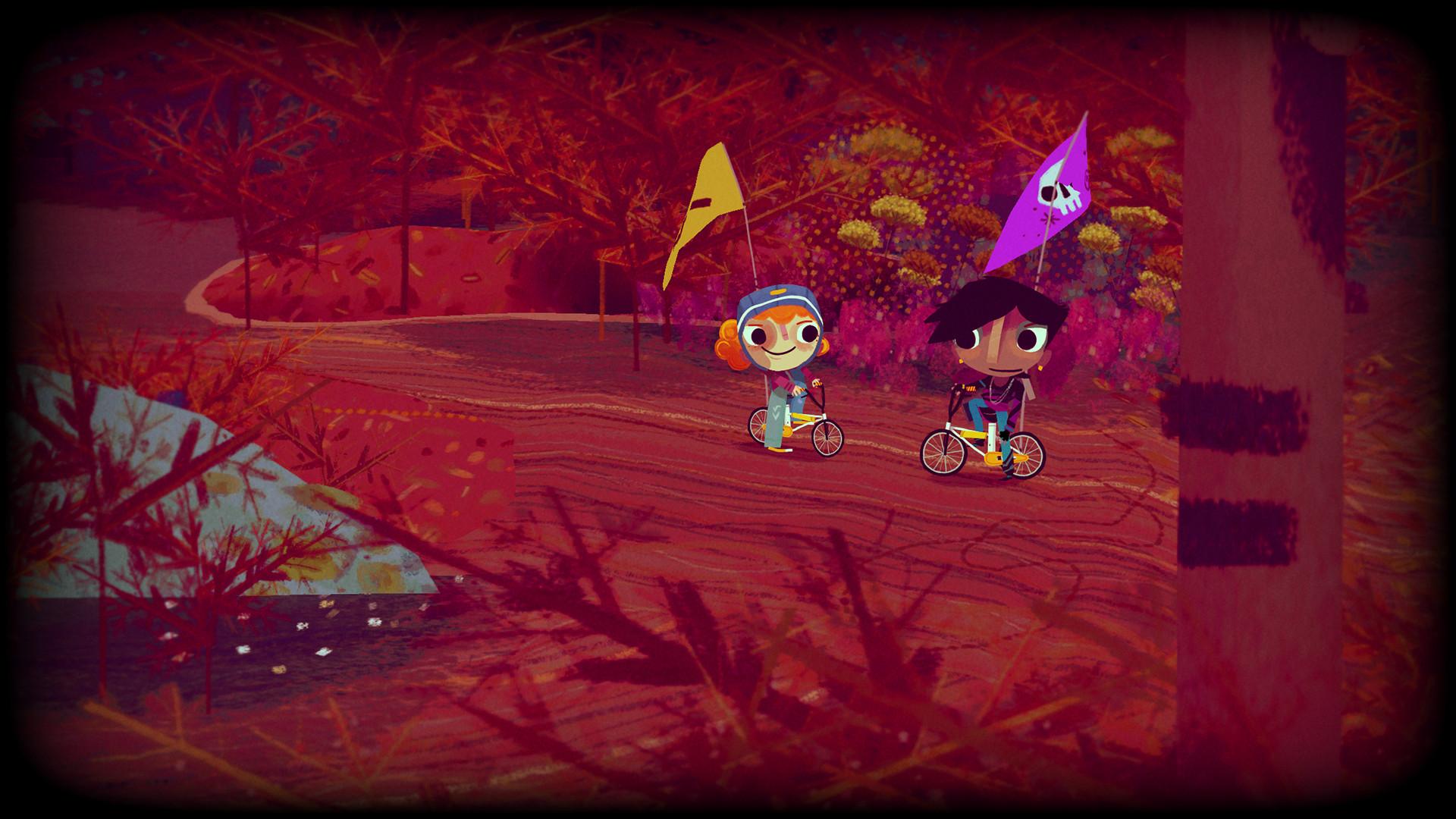 手繪風格友情冒險遊戲《騎士與自行車》8月27日發售