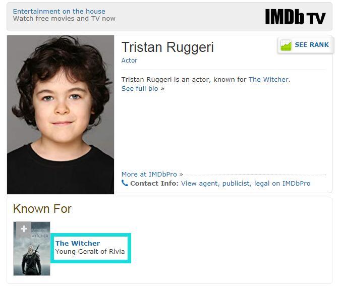 《巫师》电视剧年幼版杰洛特演员确定 白狼童年回忆?
