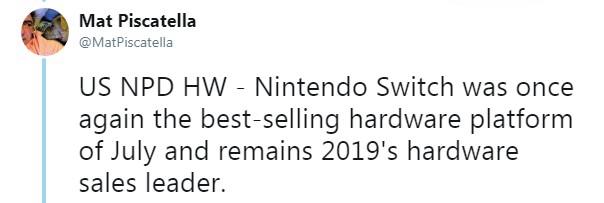 7月北美游戏销量榜 《火纹》创新高但却只排第二