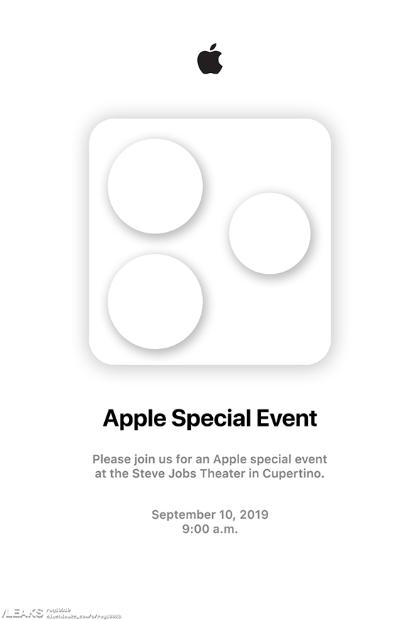 iPhone11邀请函突然曝光 发布会时间或敲定