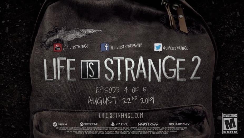 GC 2019:《奇异人生2》第四章宣传片公布 8月22日上架