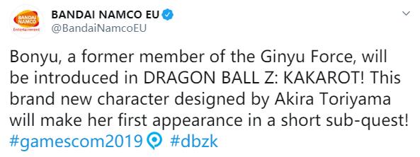 GC 2019 :《龙珠Z:卡卡罗特》公布原创角色 网友表示接受不能
