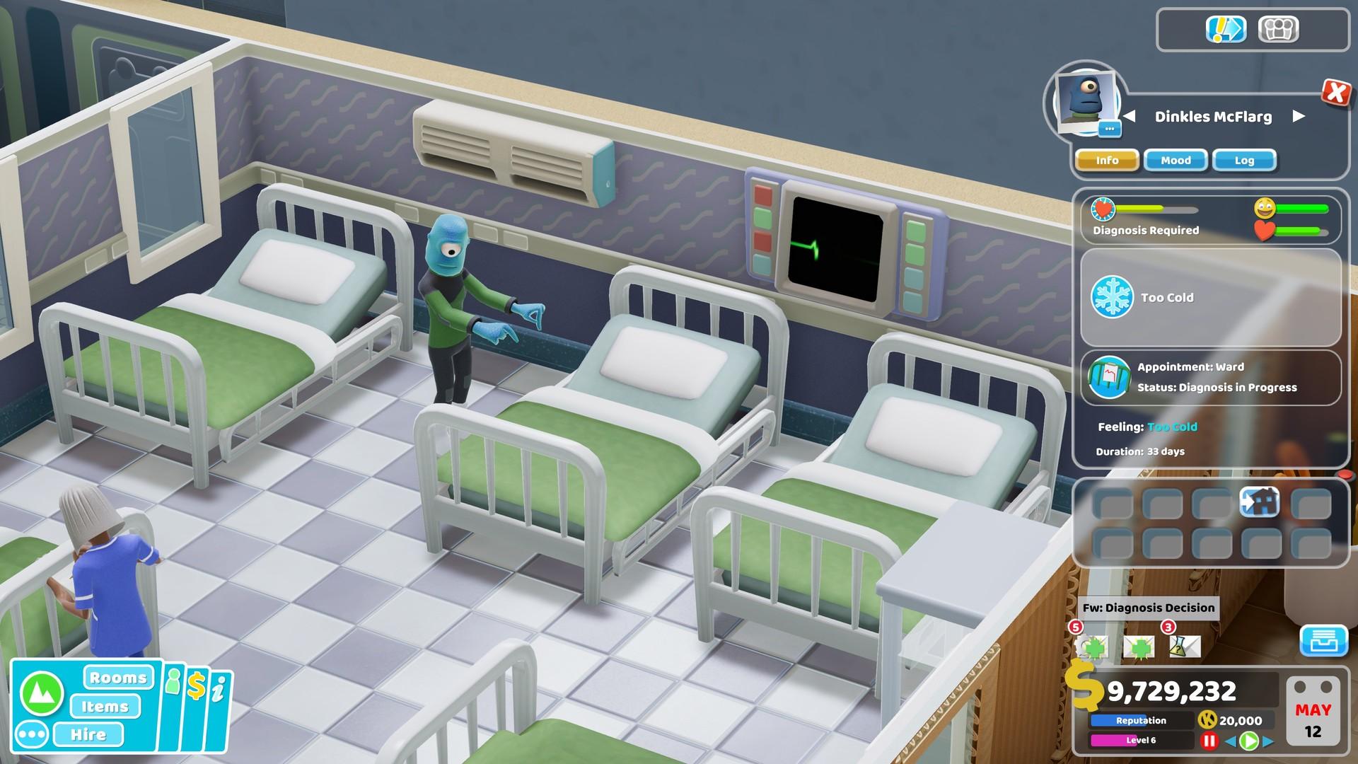 《双点医院》新DLC亲密接触8月29日推出 治疗外星人