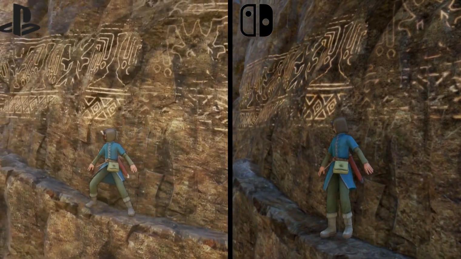 《勇者斗恶龙11》PS4 VS NS画面比拼 细节有所降低