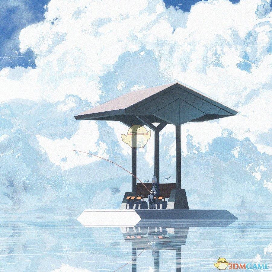 《Wallpaper Engine》天空之湖的独自垂钓动态壁纸