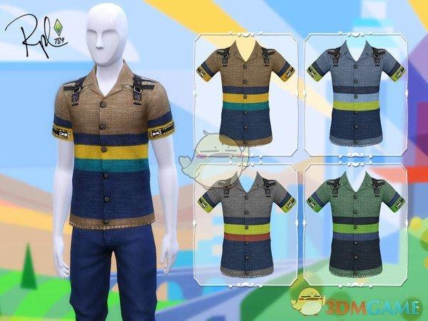 《模拟人生4》男性条纹衬衫MOD
