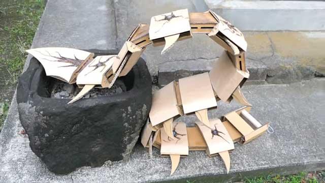 高玩自制超酷纸壳东京食尸鬼赫子!原作者也惊叹点赞