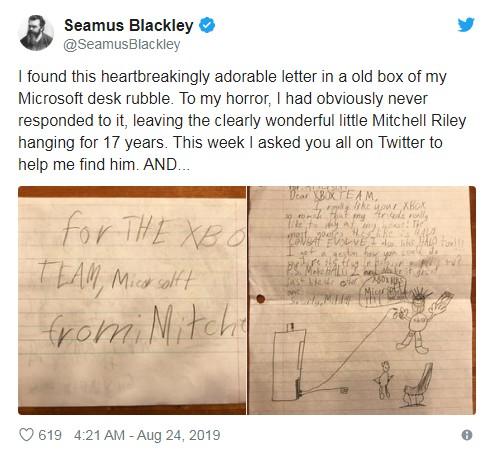 Xbox之父晒17年前小粉丝的信 如今长大成人但情怀未变
