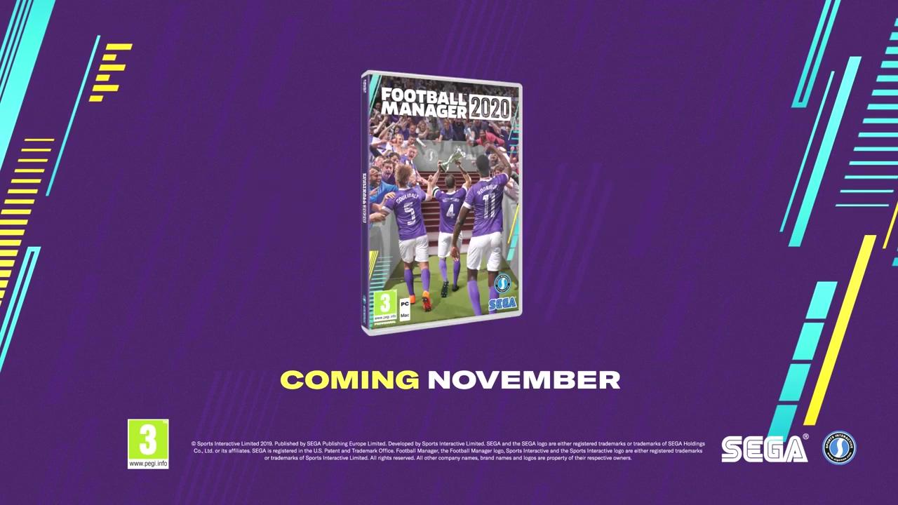 《足球经理2020》公布 11月初发售登陆PC、Mac和Stadia
