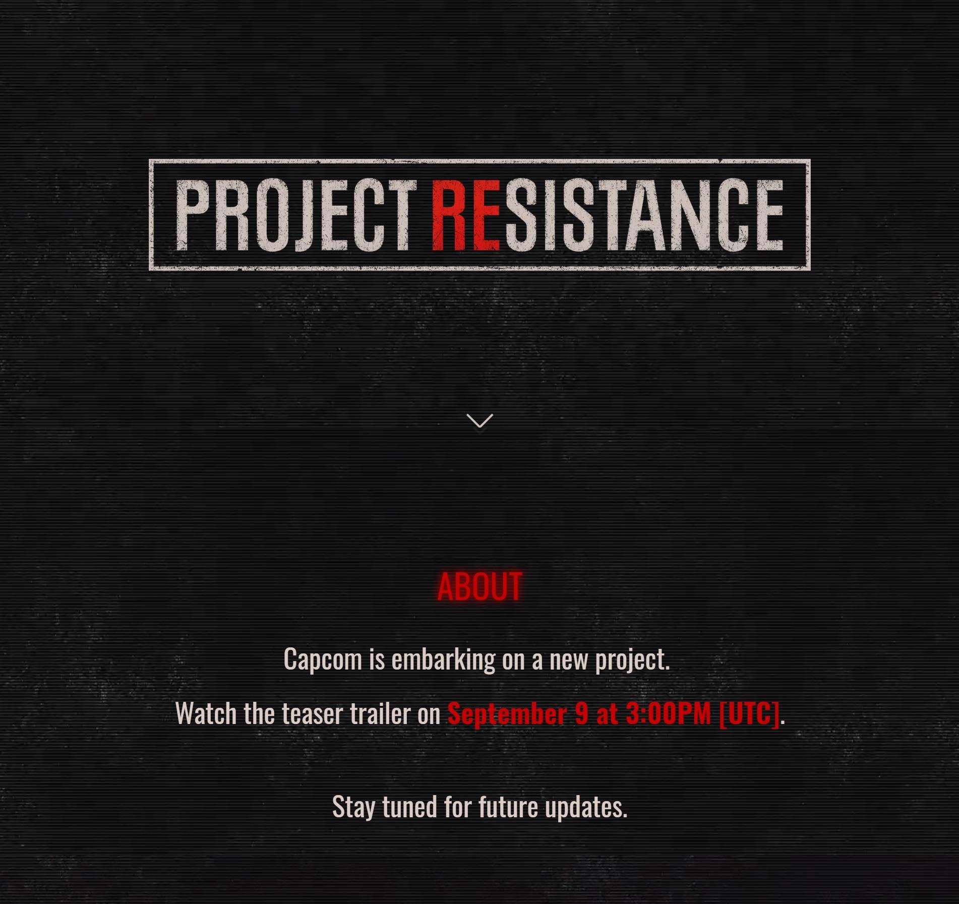 尸潮将至 卡普空《生化危机》新作将于9月9日公开
