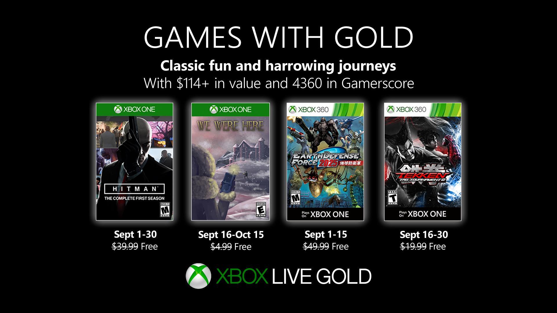 Xbox金会员九月会免:《杀手6》第一季领衔