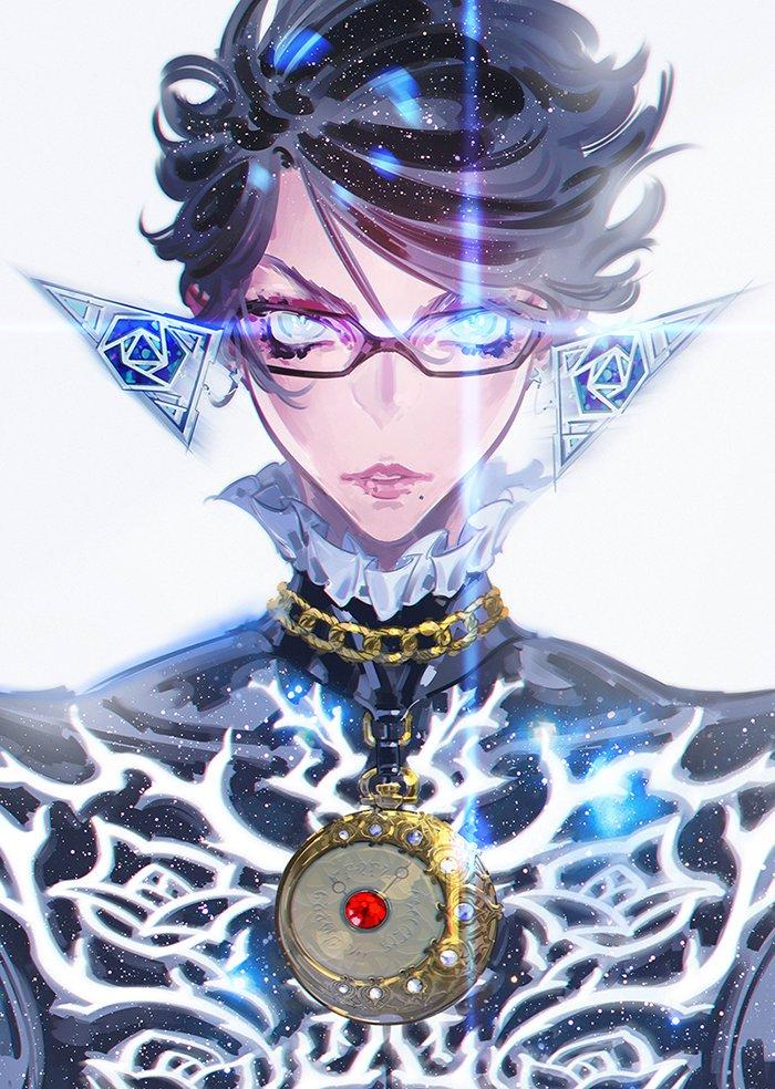 贝姐魅力难当 《猎天使魔女》角色设计师绘制《异界锁链》贺图