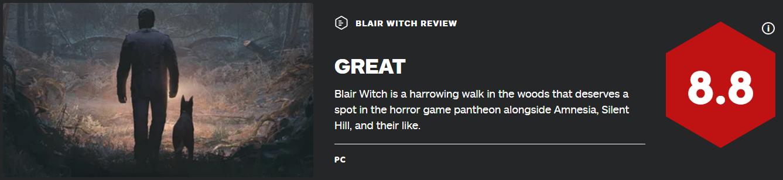 神操作删除中文 IGN8.8分《布莱尔女巫》遭国区玩家差评轰炸