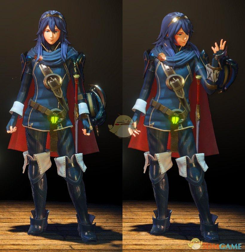 《怪物猎人:世界》火焰纹章露茜娜模型替换mod