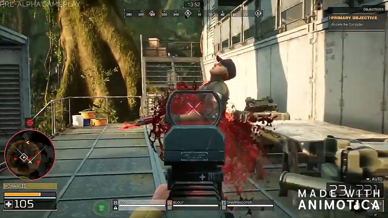 《铁血战士:狩猎场》实机试玩 没错血真的是绿色的!