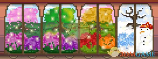 《星露谷物语》季节性动态窗户MOD