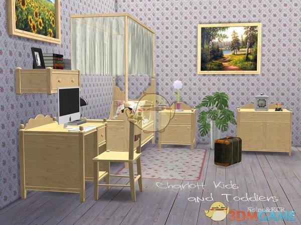 《模拟人生4》木质的儿童卧室MOD