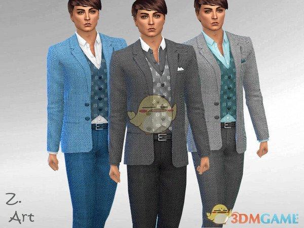 《模拟人生4》男性帅气商务西装MOD