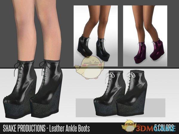 《模拟人生4》时尚的高跟皮靴MOD