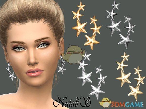 《模拟人生4》三连星星耳环MOD