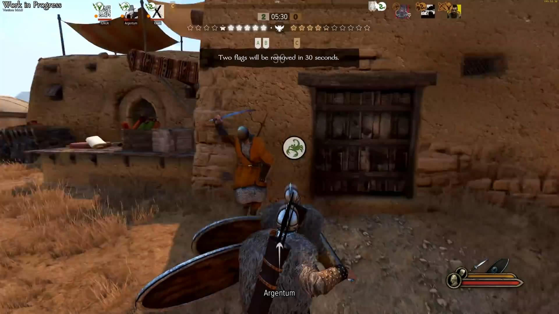 《骑马与砍杀2》新演示视频 3v3战场拼杀非常刺激