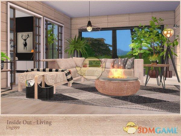 《模拟人生4》现代时尚篝火家具MOD