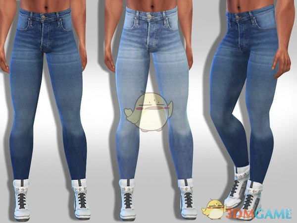 《模拟人生4》男性紧身牛仔裤MOD