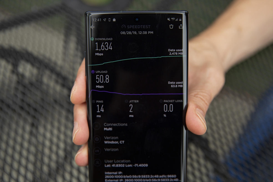 三星Note10+ 5G试用:网速超快、电量消耗也超快