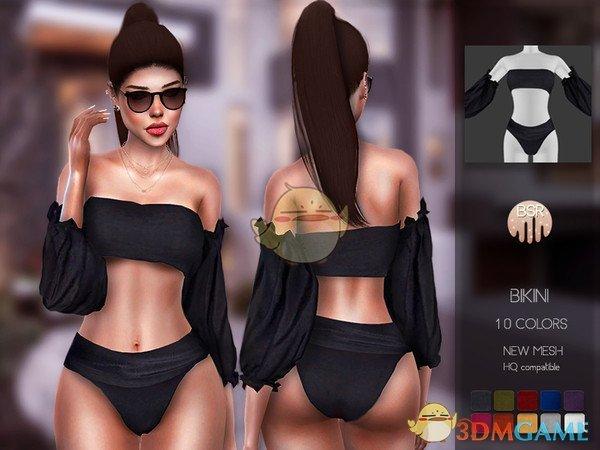 《模拟人生4》女性黑色时尚比基尼MOD