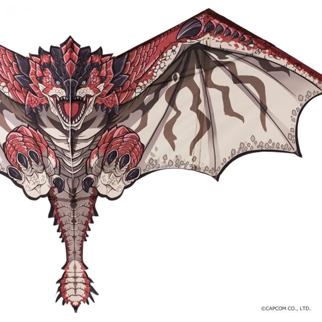 打爆你还要送你上天 Capcom推出《怪物猎人》雄火龙风筝