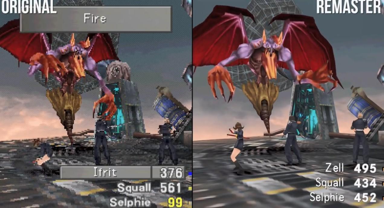 《最终幻想8》重制版与原版对比 数毛社:等了20年就这?
