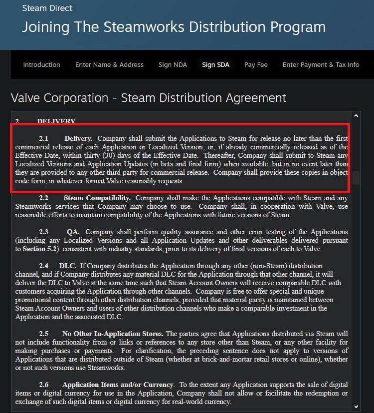 Steam更新分销协议:禁止未发售游戏下架 多平台需同步发售