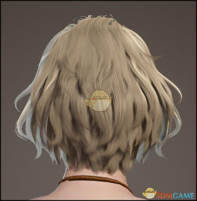 《怪物猎人:世界》可爱波浪短发发型MOD