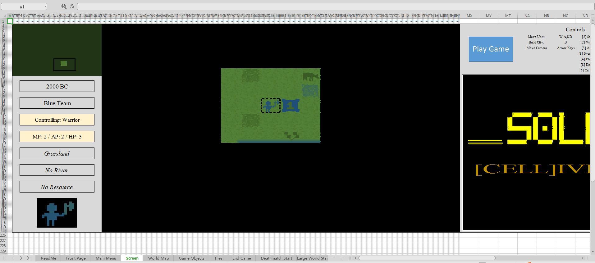 传说中的精通Excel?高玩用Excel重制《文明》初代游戏