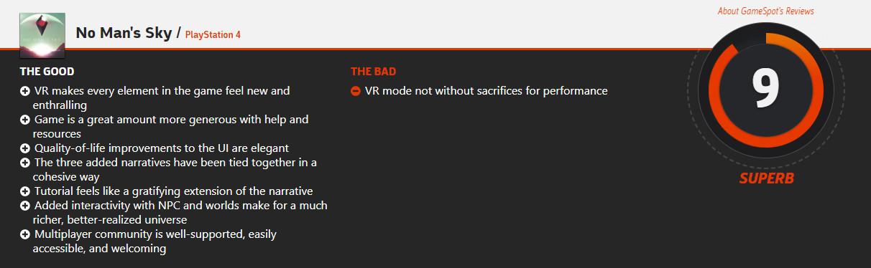彻底翻身?GameSpot重评《无人深空》 给出9分好评