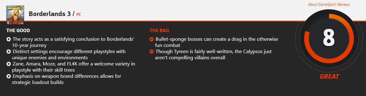《无主之地3》IGN 9分 成功超越自己成为系列新标准