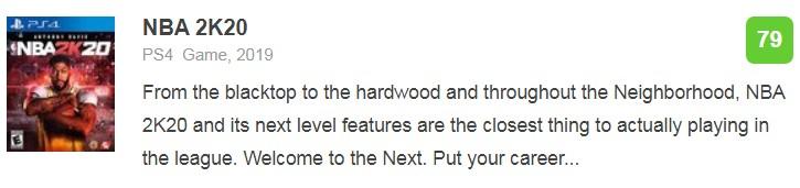 《NBA 2K20》IGN 7.8分:依旧最佳但是该提出更高要求