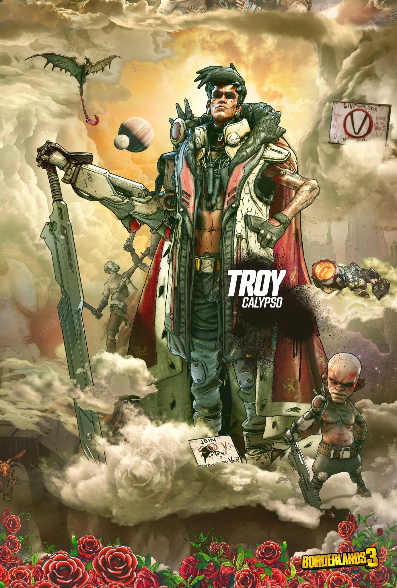 有魅力的男人_《无主之地3》大反派新海报 邪教领袖的疯狂威胁_3DM单机