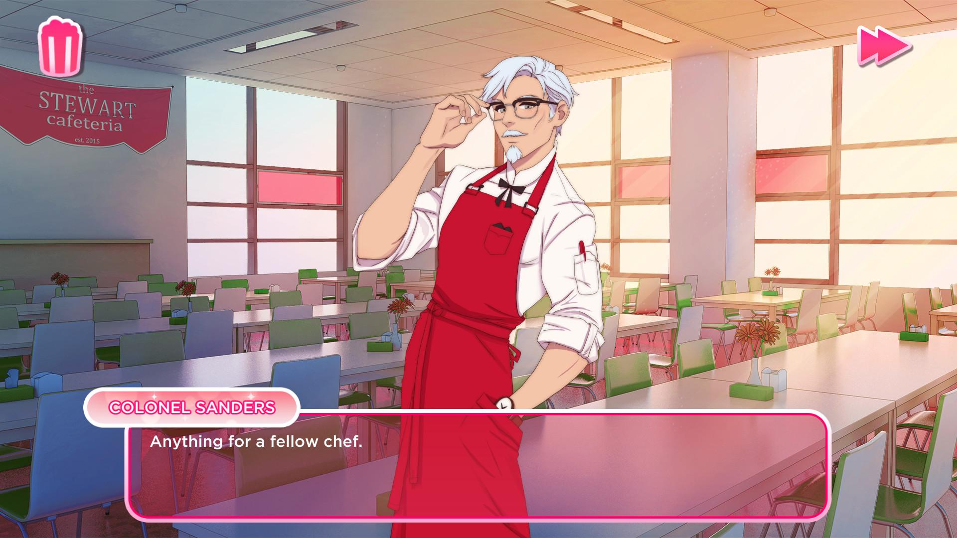和肯德基上校谈恋爱 KFC恋爱模拟器9月24日发售